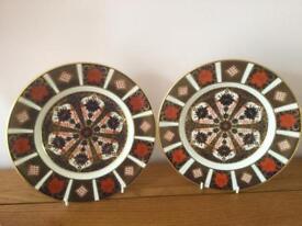 Royal crown derby china Imari 8 inch plates
