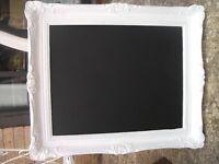 Vintage shabby chic blackboard noticeboard menu