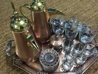 rose gold tray set