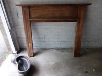 Wooden Mantlepiece For Sale