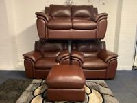 3 piece leather Harvey's sofa set delivery 🚚 sofa suite couch furniture
