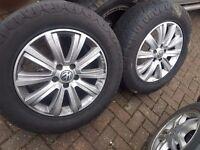 """VW Amorak 18"""" Alloy wheels - set of 5"""