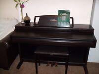 yamaha clavinova clp 860 88 weighted keys , in dark rosewood .