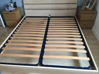 Barker and Stonehouse King Size bed frame in maple.