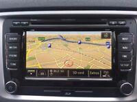 ** VW Skoda Columbus RNS 510 LED CD MP3 DAB Sat Nav HDD Excellent Cond 09-15 **