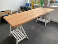 XXL Large Desk/Drawing Table Reclaimed Furniture