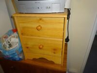 Bedside Table - including 2 drawers.
