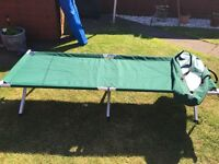 folding camp bed in a bag hardly used £15