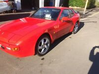 Porsche 944. 2.5 Manual gearbox, Guards Red .F reg, 1988 Mot till May 2018.