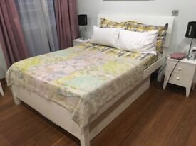 Warren Evans bedroom set for sale: chest of drawers, bed with underneath storage and bedside tables