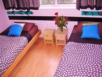 Pets OK. Large room, 2 single beds, 4 minute walk to Holloway Rd tube station