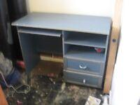 computer desk blue