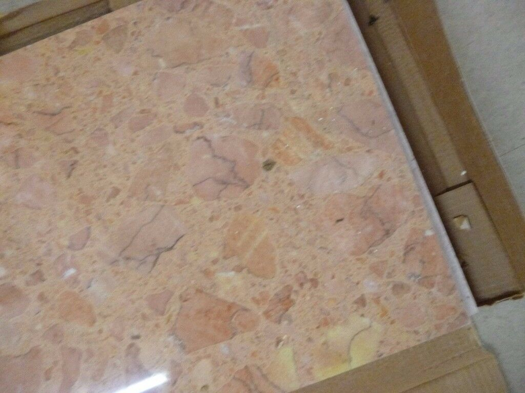 4 Boxes of Rosa Levante Marble Floor Tiles Marmol Compac | in ...