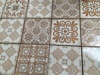 VINTAGE EFFECT 15X15 ALHAMBRA WALL TILES LOT OF 5M2