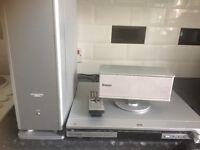 Panasonic DVD player, speaker and subwoofer