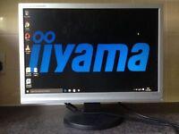 19 inch Iiyama Prolite E1908W Widescreen LCD TFT VGA Speakers computer Screen Monitor WITH speakers