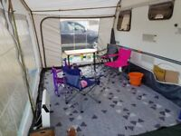 5 berth caravan with awning.