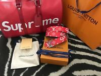 LV supreme Duffle bag and LV Belt