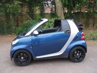 SMART FORTWO 1.0 AUTOMATIC CONVERTIBLE PASSION, FSH ,SAT NAV, LEATHER INTERIOR, HEATED SEATS