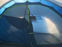 8 man tent, blue, 3 bedrooms, porch included.