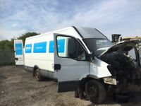 Iveco daily van spare parts available axel wheels doors seats bumper bonnet head light radiator wing