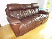 Supreme DFS Real Leather Reclining Sofa £500 ono