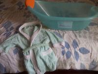 For sale: Baby bath & Baby bathrobe