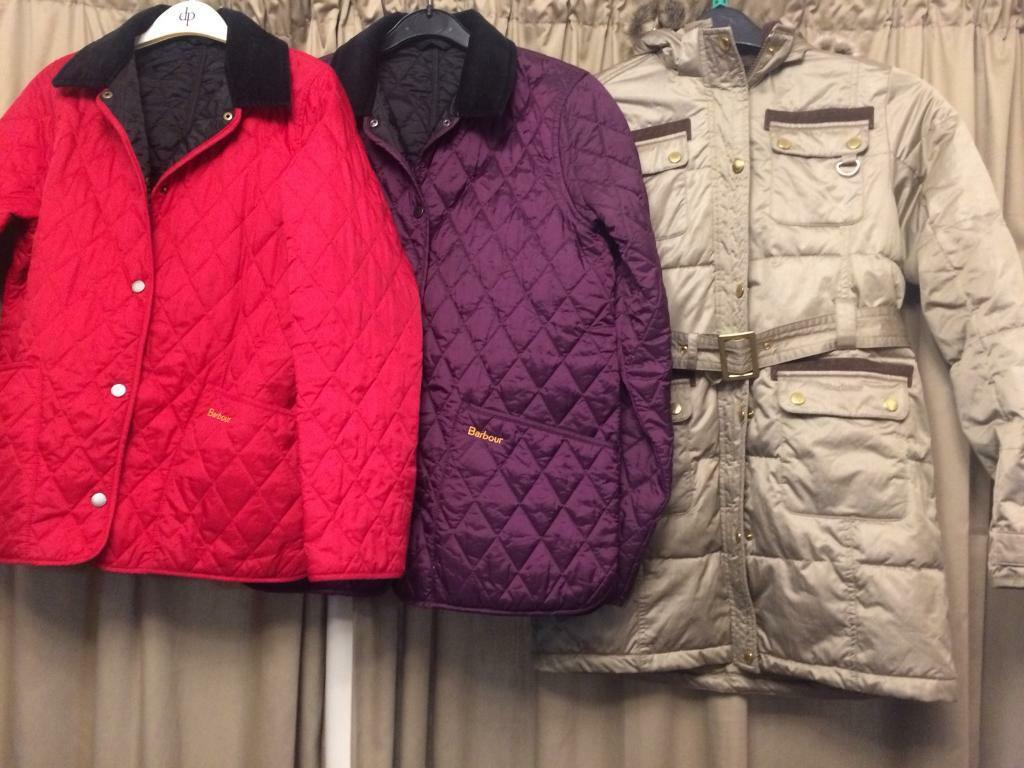 Selection of Genuine Girls Barbour Coats.