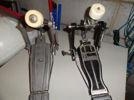 Drum Heads, and Pearl bass drum pedal..