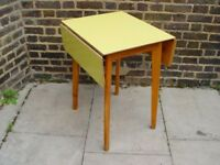 FREE DELIVERY Retro Formica Drop Leaf Table Vintage Mid Century Furniture