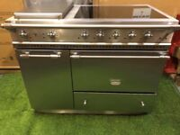 Stunning lacanche range cooker Double oven 110 width Rare Stainless Steel INC VA