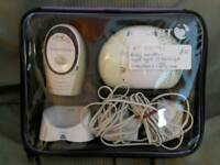 BT digital baby monitor / night light with carry case.