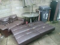 Free 2 seater sofa, sofa bed shown sold!!