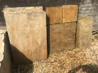 Riven Indian sandstone paving slabs in buff (7.65 m2)