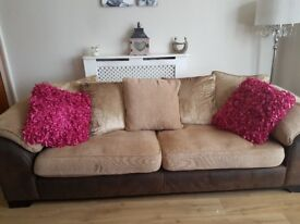 Large 4 seater and 3 seater sofa