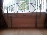 Stylish metallic double bed headboard