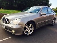 Mercedes Benz C220 Cdi Avantgarde FULL SERVICE HISTORY. 2003.Auto Met paintwork.Leathers
