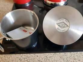 Wesco milk pan and sauce pan. Black