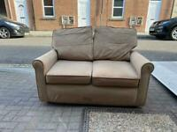 two seather sofa suede leather Delivery available