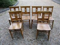 LARGE QUANTITY OF VINTAGE CHURCH / CHAPEL / DINING CHAIRS. £25 each. Delivery possible.