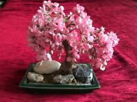 Beautiful Pink plastic Bonsai tree