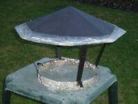 Metal chimney cowl