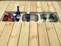 Garden furniture large drinks cooler table
