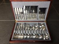 Silver Plated 64 piece cutlery set in box