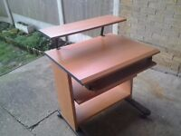 computer desk Excellent condition in Beech colour.