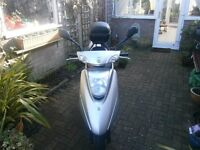 YAMAHA VITY 125cc. Automatic scooter, Silver, 2009 Reg.ONLY 2,206 Miles ! New battery.