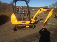 JCB 8014 mini digger excavator