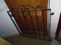 Iron metal front patio terrace garden gate