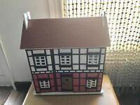Old large wooden doll house