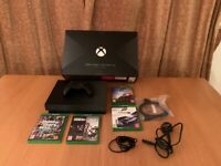 XBOX ONE X PROJECT SCORPIO EDITION 1TB RARE CONSOLE WITH CONTROLLER & 4 GAMES